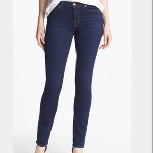 JBrand Scarlett Seven Eights Mid Rise Skinny Jeans